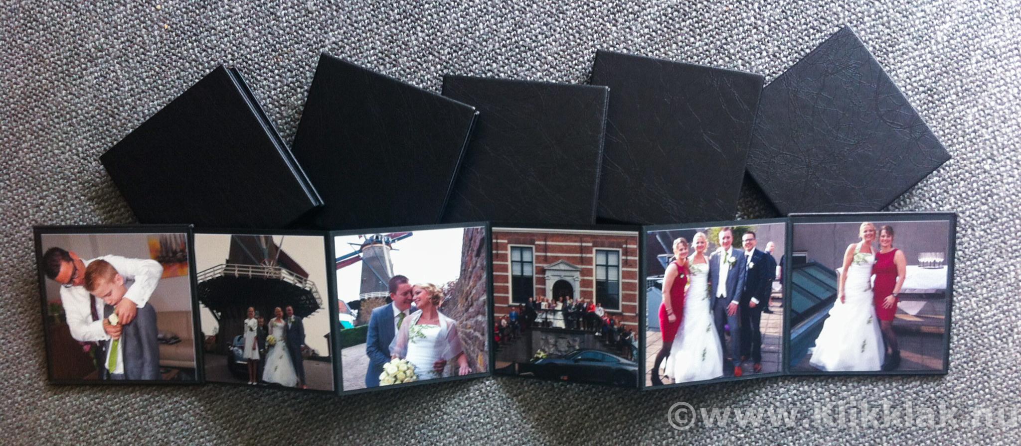 Trouwcadeau accordionmapje met 6 mooie foto's