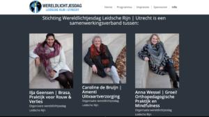 portretten organisatie wereldlichtjesdag Leidsche Rijn in het Maximapark