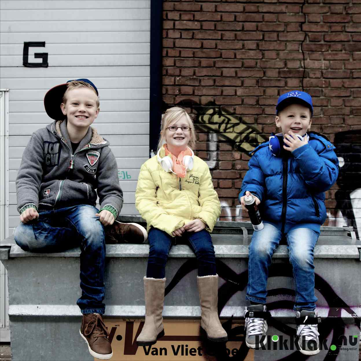 Fotoshoot met kinderen op locatie