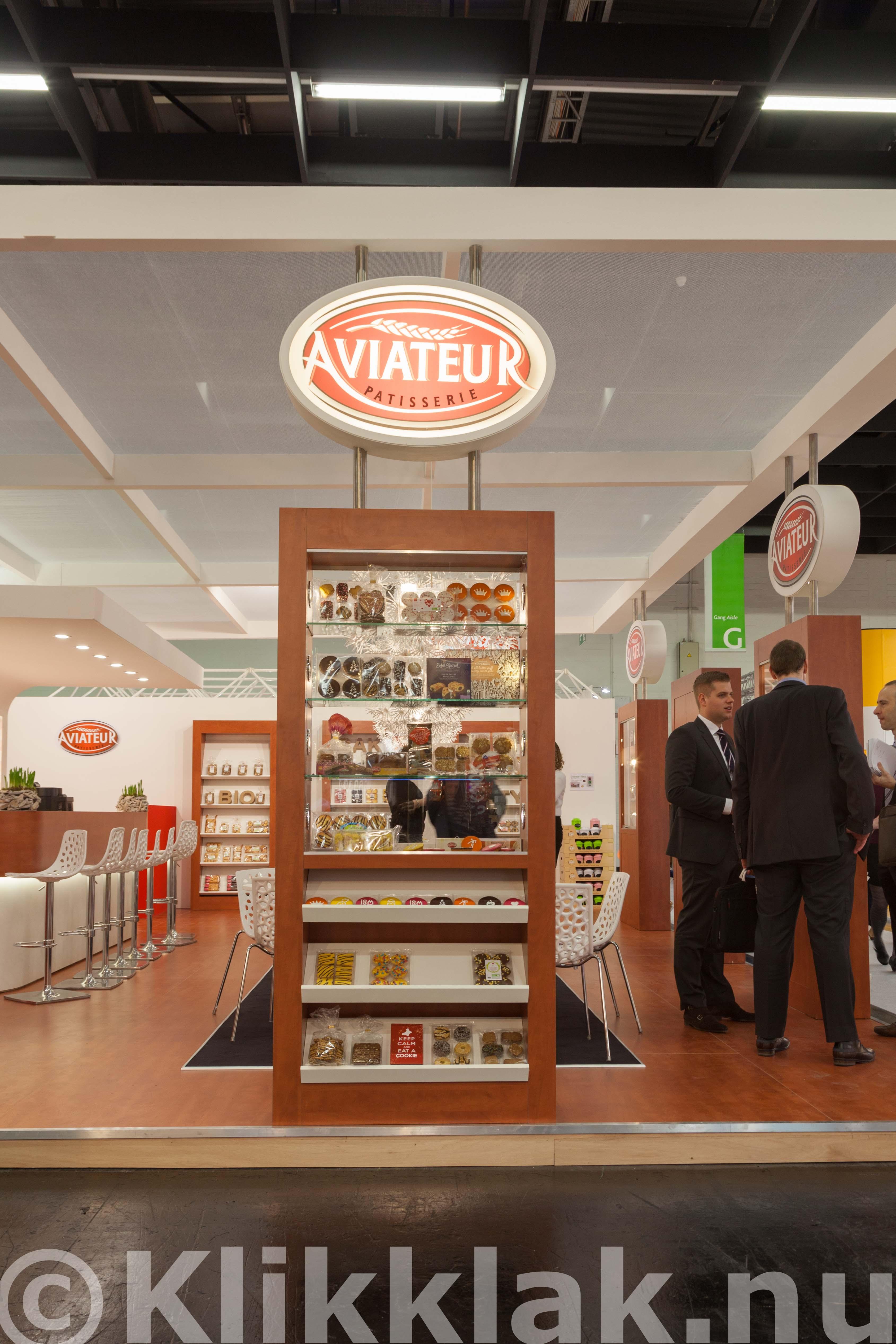ISM zoetwarenbeurs stands Keulen 2015 Aviateur
