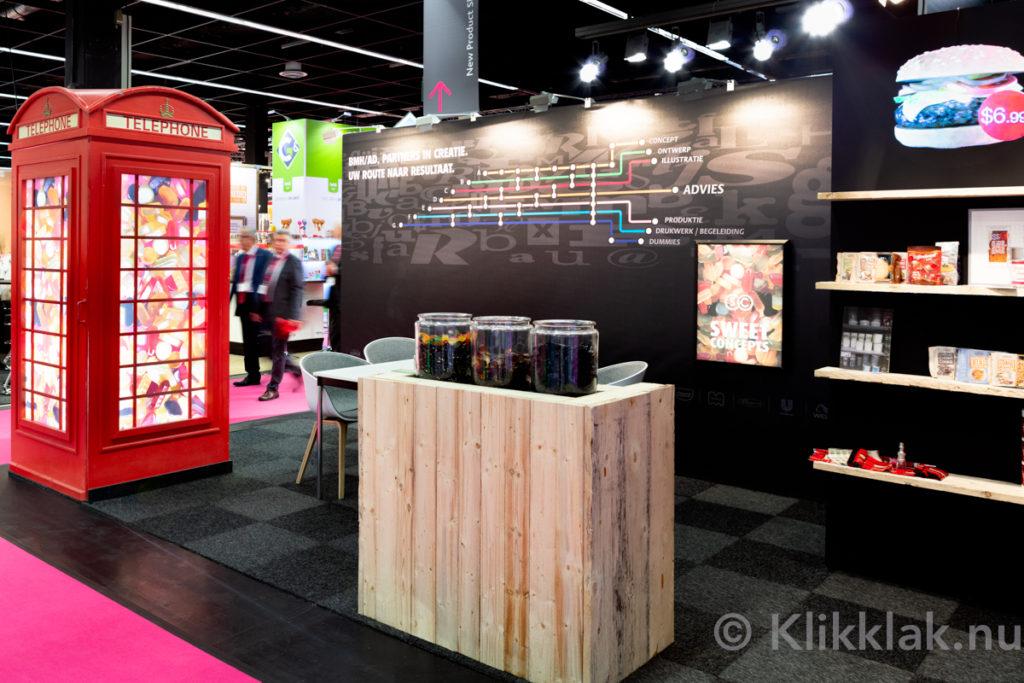 Stand van BMH/AD op de ISM 2019 in Köln. Gebouwd door Salut Expo.