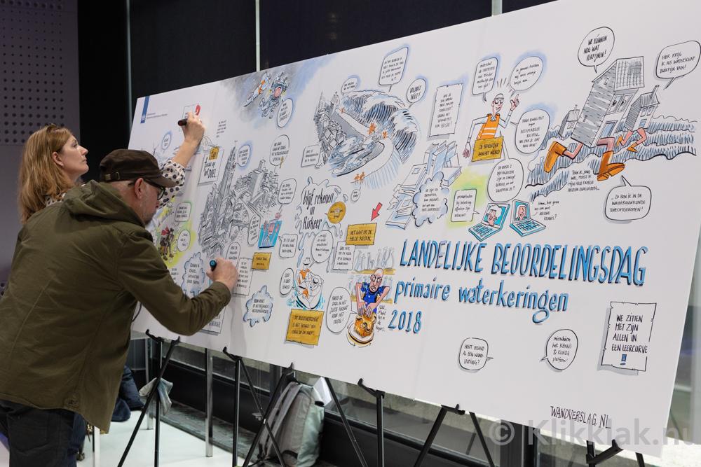 Wandverslag in actie bij Rijkswaterstaat in de jaarbeurs