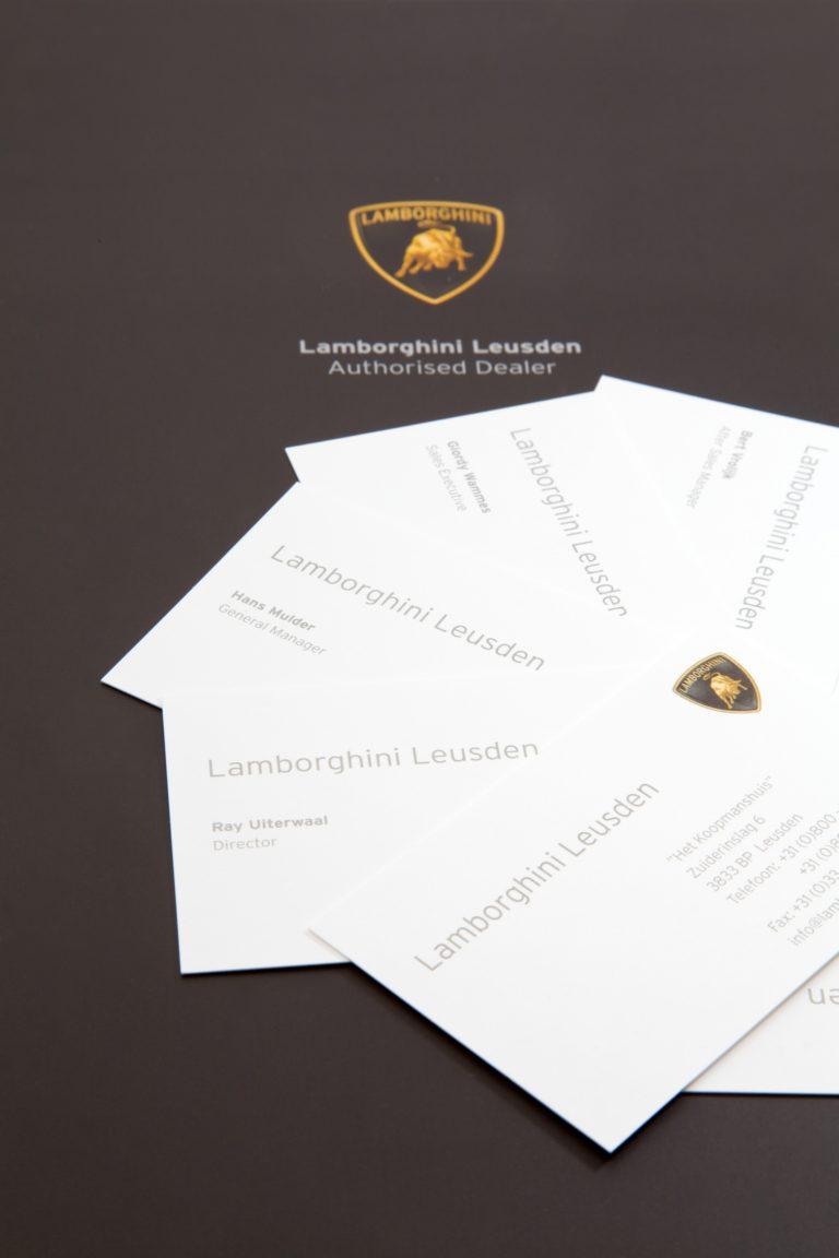 Lamborghini visitekaartjes en briefpapier