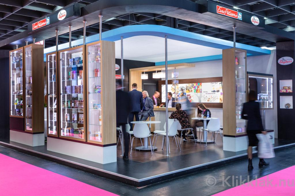 Stand van Europatisserie op de ISM 2019 in Köln. Gebouwd door Salut Expo.