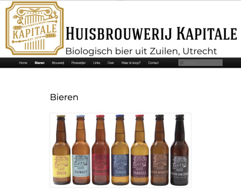 Huisbrouwerij Kapitale bier uit Utrecht