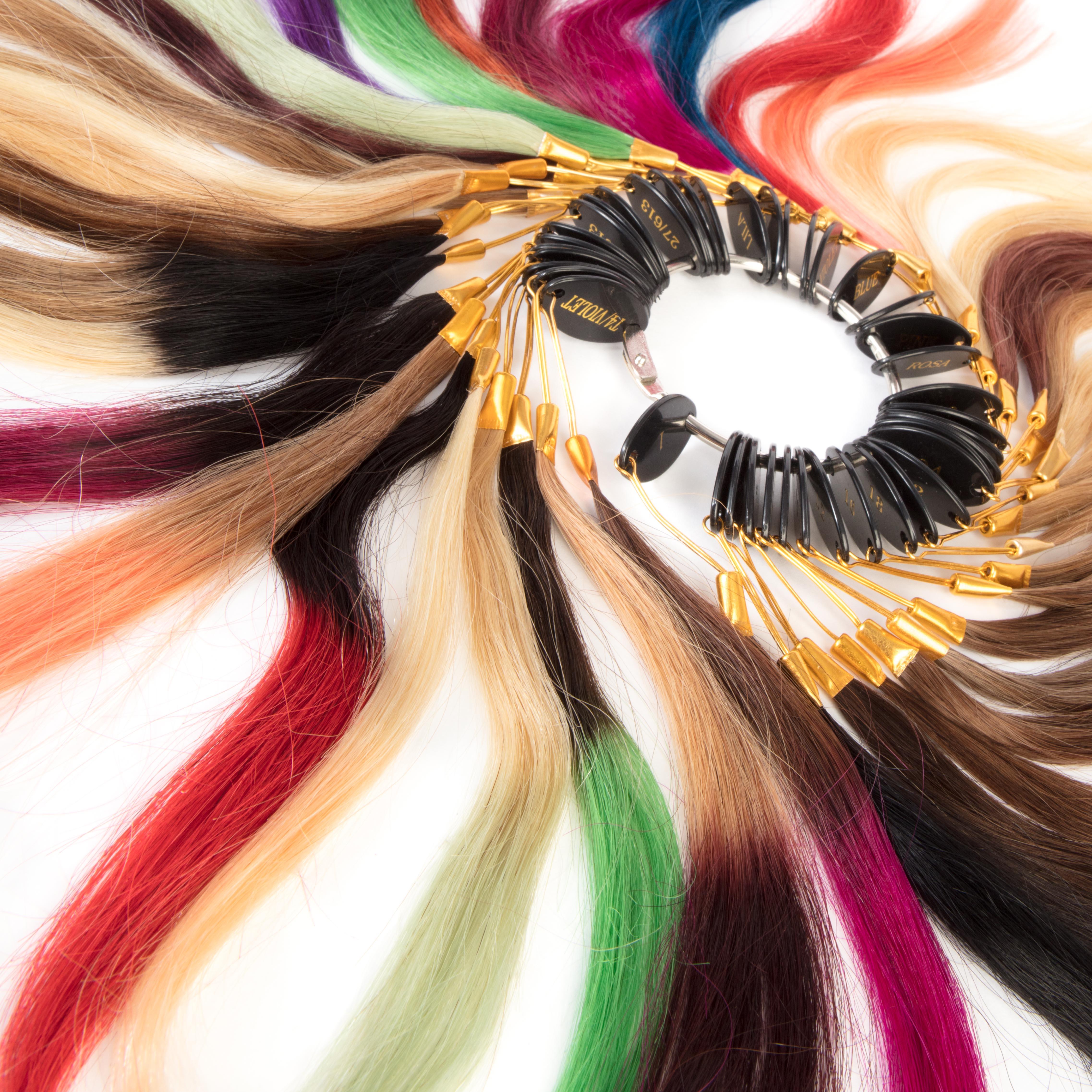 hairextensions productfotografie bestemd voor webshop Kleurenring
