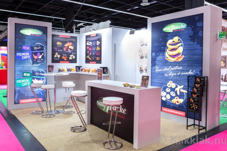 De stand van VanMarcke op de ISM 2019 in Köln. Gebouwd door Salut Expo.