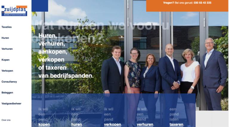 Team Zuijdplas bedrijfsmakelaardij uit Houten voor hun eigen pand.