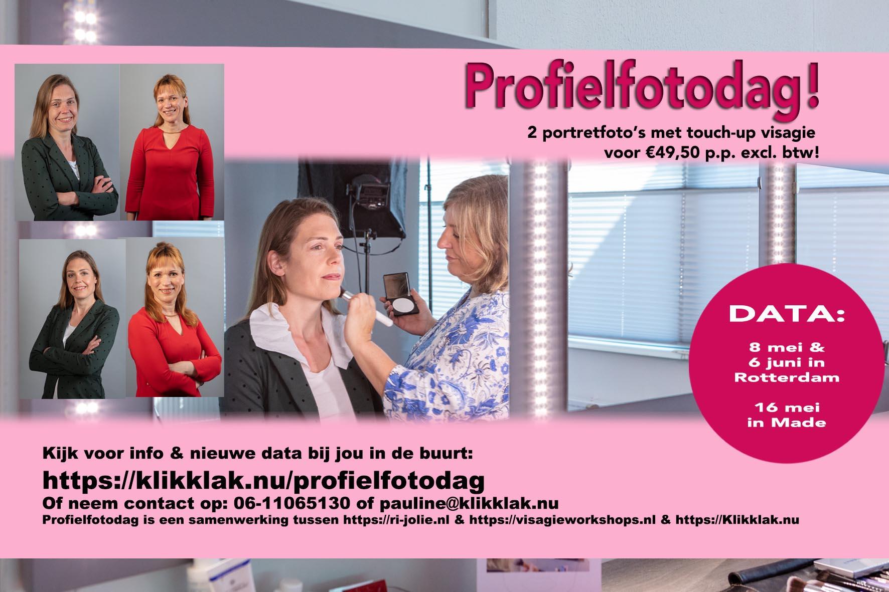 Profielfotodag, kom een portretfoto laten maken voor je profielfoto op LinkedIn
