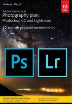Adobe Creative Cloud Photography Plan- Student & Docent Editie - 1 Apparaat - 1 Jaar - 20GB Cloudopslag - Nederlands : Engels - Windows : Mac Download