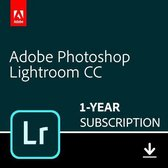 Adobe Photoshop Lightroom CC - 1 Apparaat - 1 Jaar - 1TB Cloudopslag - Nederlands : Engels - Windows : Mac