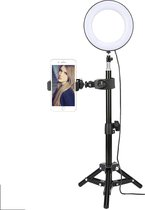 Picca 6 inch ringlamp set led ringlicht met camera statief