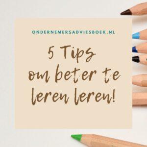 5 tips om beter te leren leren2