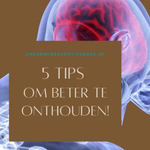 5 tips om beter te onthouden2