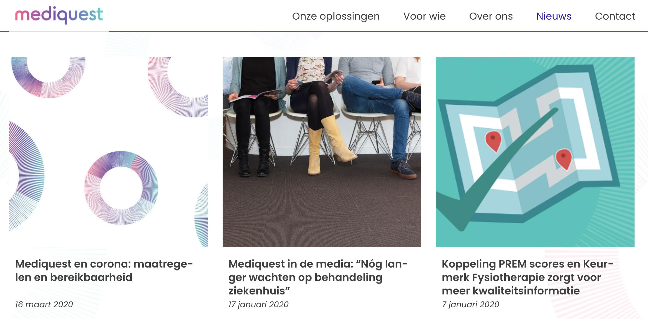 fotografie de website van Mediquest