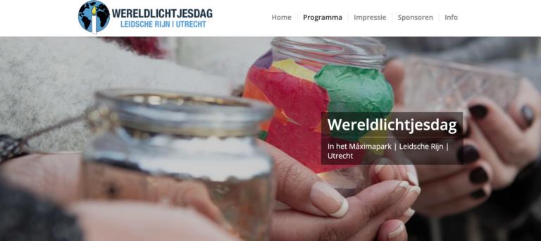 fotografie voor wereldlichtjesdag in Leidsche Rijn