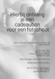 cadeaubon fotoshoot baby