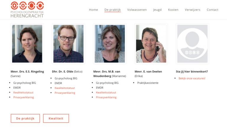 fotografie bestemd voor de website van psychologie praktijk Herengracht Weesp