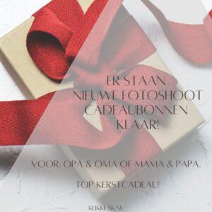 Cadeaubon fotoshoot kerst
