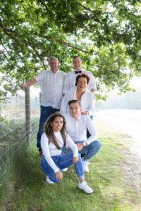 familiereportage op locatie op de heide in Blaricum