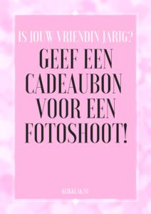 cadeaubon fotoshoot confetti roze
