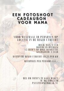 Fotoshoot cadeaubon voor mama