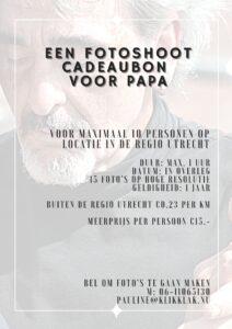 Fotoshoot cadeaubon voor de allerliefste papa