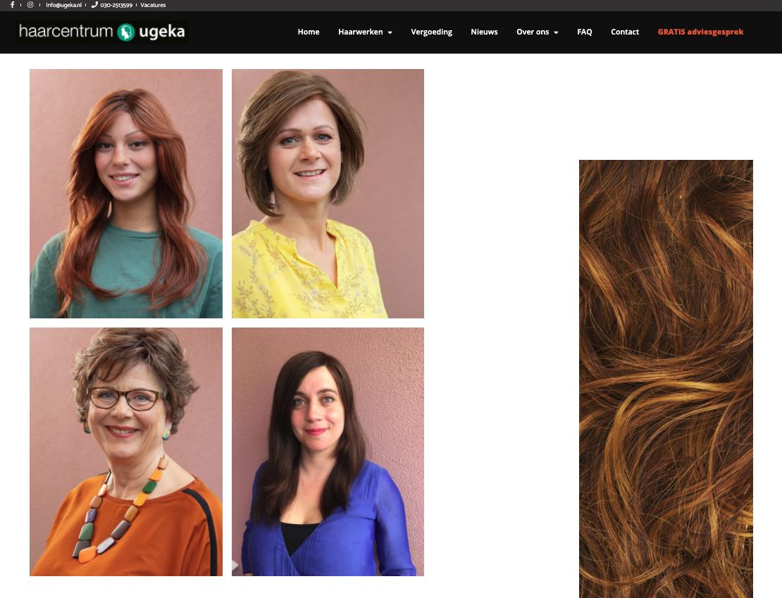 portretfotografie bij Ugeka haarwerken op locatie in Utrecht