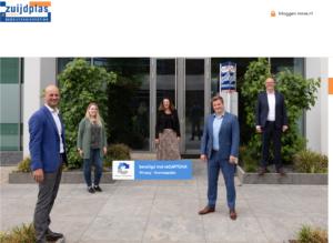 Team Zuijdplas 2020 bedrijfsmakelaardij uit Houten voor hun eigen pand.