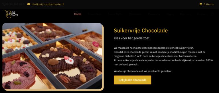 Sfeerfoto's van de heerlijke chocoladeletters van Suikertante in Utrecht